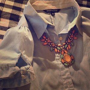 Plead short sleeve button shirt